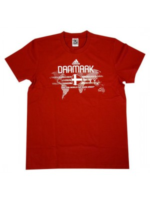 Denmark DBU t-shirt World Cup 2010 - red