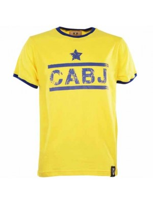 Cabj T-Shirt - Yellow/Royal Ringer