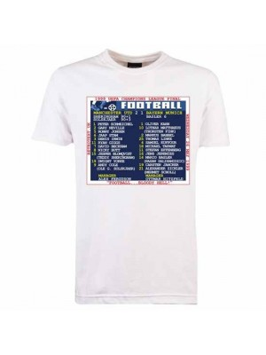 Manchester United 1999 Champions League Final Retrotext T-Shirt