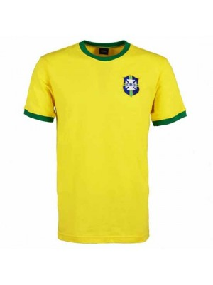 Brazil 1970's World Cup Retro T-Shirt - Yellow/Green
