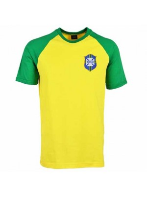 Brazil Raglan Sleeve Yellow/Green T-Shirt