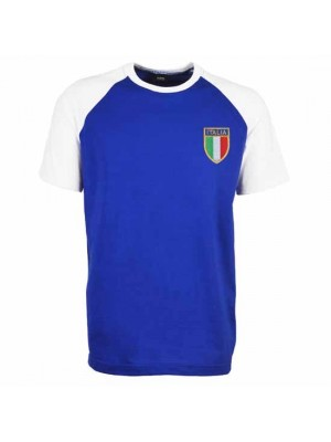 Italy Raglan Sleeve Royal White T-Shirt