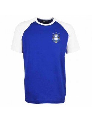 Brazil Away Raglan Sleeve Royal/White T-Shirt