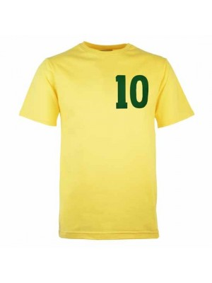 Brazil No 10 Pele Yellow T-Shirt