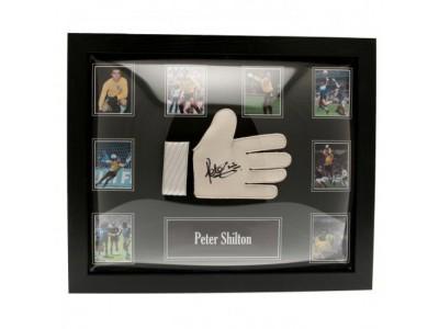 England handske - FA Shilton Signed Glove (Framed)