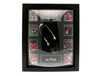 Arsenal støvle med autograf - Wright Signed Boot (Framed)