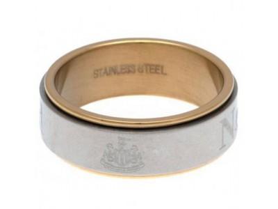 Newcastle United ring - Bi Colour Spinner Ring - X-Large