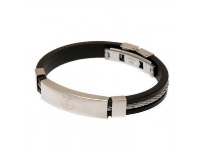 Everton armbånd - Silver Inlay Silicone Bracelet