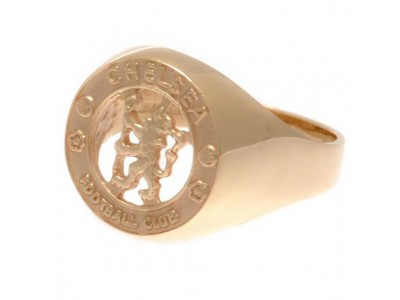 Chelsea guld ring - CFC 9ct Gold Crest Ring - Small