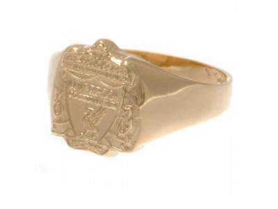 Liverpool ring - LFC 9ct Gold Crest Ring - Medium