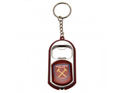 West Ham oplukker nøglering - Key Ring Torch Bottle Opener