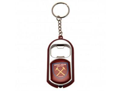 West Ham oplukker nøglering - Key Ring Torch Bottle Opener