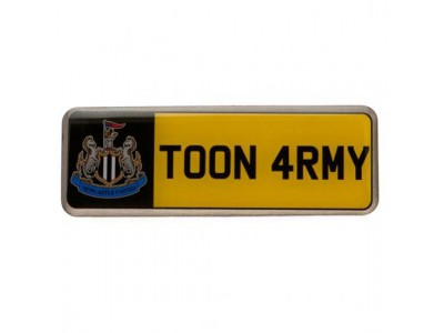 Newcastle United nummerplade - Number Plate Badge