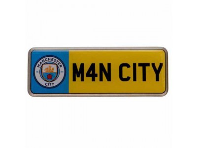 Manchester City nummerplade - Number Plate Badge