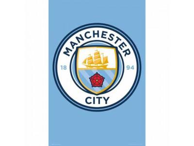 Manchester City plakat - Poster Crest 3