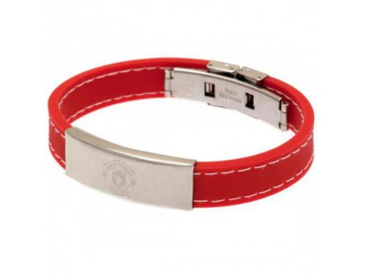 Manchester United armbånd - Stitched Silicone Bracelet RD