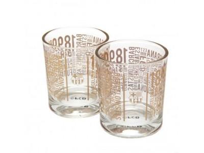 FC Barcelona whisky glas - 2pk Whiskey Glass Set TX