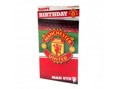 Manchester United fødselsdagskort - Birthday Card Stadium