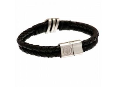 Manchester City læder armbånd - Leather Bracelet