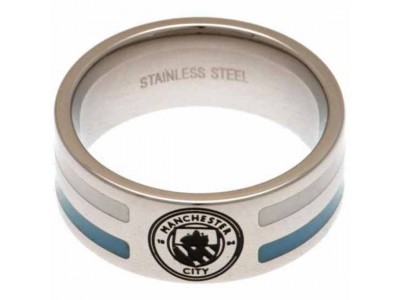 Manchester City ring - Colour Stripe Ring Large