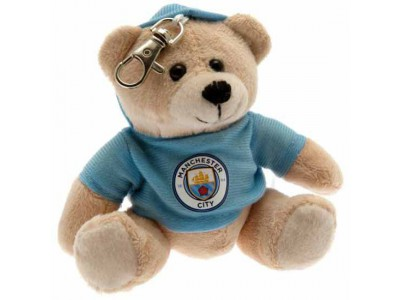 Manchester City bamse nøglering - Bag Buddy Bear