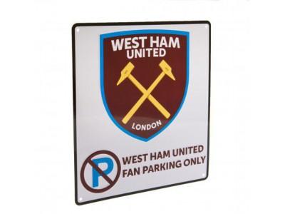 West Ham United skilt - No Parking Sign