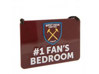 West Ham United skilt - Bedroom Sign No1 Fan