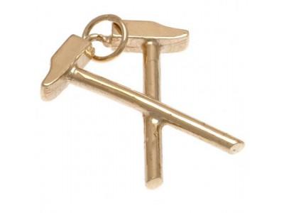 West Ham smykke - 9ct Gold Pendant Hammers