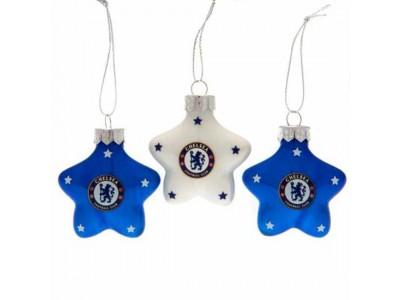 Chelsea FC 3pk Star Baubles