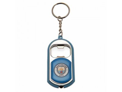 Manchester City nøglering - Key Ring Torch Bottle Opener