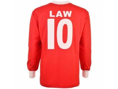Manchester United 1963 FA Cup Denis Law 10 fodboldtrøje