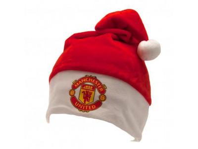 Manchester United superblød julemands hat - Supersoft Santa Hat