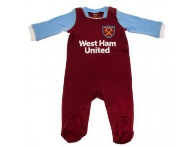 West Ham sparkedragt - Sleepsuit 6/9 Months