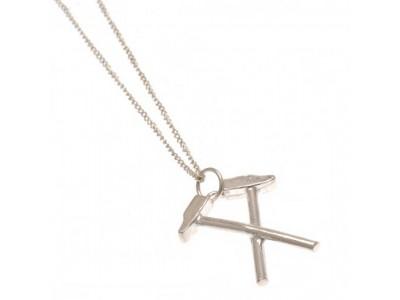 West Ham kæde skilt - Sterling Silver Pendant & Chain HM