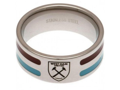 West Ham ring - Colour Stripe Ring - Small