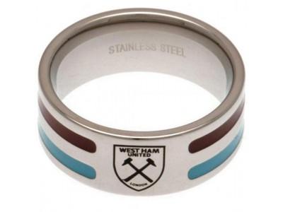 West Ham ring - Colour Stripe Ring - Large