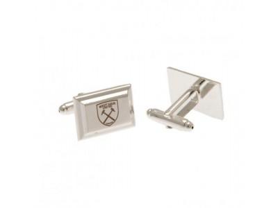 West Ham United FC Silver Plated Cufflinks
