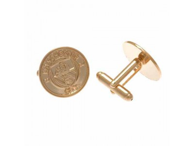 Manchester City manchetknapper - Gold Plated Cufflinks