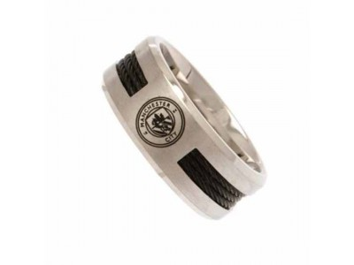Manchester City ring - Black Inlay Ring - Medium