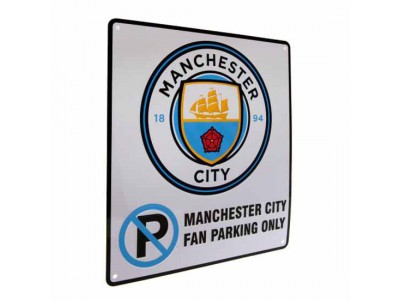 Manchester City skilt - No Parking Sign