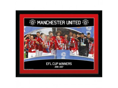 Manchester United billede - Picture EFL Cup Winners - 16 x 12