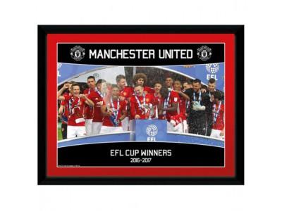 Manchester United billede - Picture EFL Cup Winners - 16 x 12