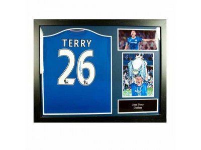 Chelsea trøje - Terry Signed Shirt (Framed)