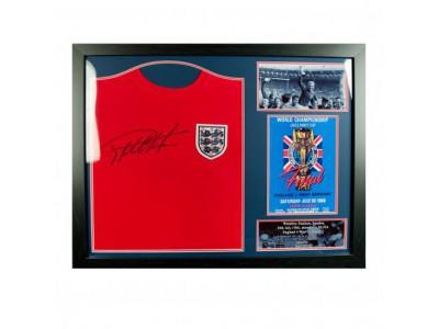 England trøje - FA Sir Geoff Hurst Signed Shirt (Framed)