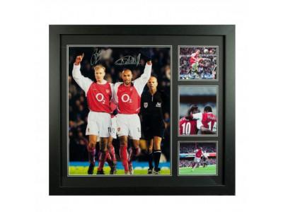 Arsenal trøjer med autograf - Bergkamp & Henry Signed Framed Print
