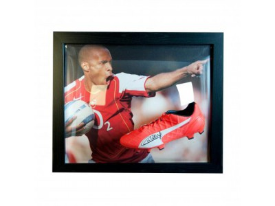 Arsenal støvle med autograf - Henry Signed Boot (Framed)