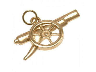 Arsenal emblem - AFC 9ct Gold Pendant Cannon