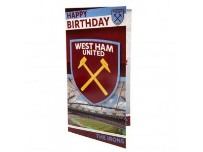 West Ham fødselsdagskort - Birthday Card