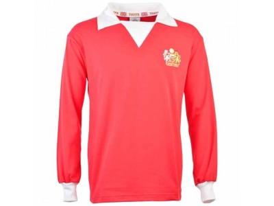 Manchester United 1970s Long Sleeve Retro Fodboldtrøje