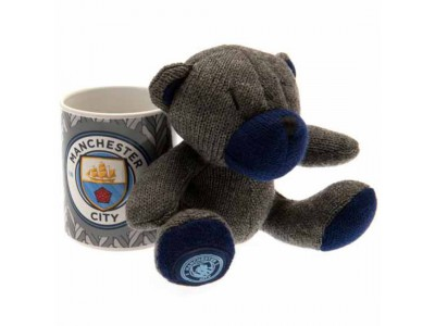 Manchester City FC Mug & Bear Set